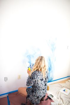 MrKate_DIY_WaterColorMural out of Effective pictures we are about home decor tips to offer A quality picture can tell you many things. Bedroom Murals, Wall Murals, Diy Pared, Diy Wall Painting, Watercolor Walls, Watercolor Ideas, Decoration Inspiration, Style Inspiration, Little Girl Rooms