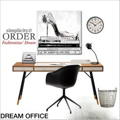 Fashionistas' Dream Office by szaboesz on Polyvore featuring interior, interiors, interior design, home, home decor, interior decorating, Oliver Gal Artist Co., Dainolite, WALL and BoConcept