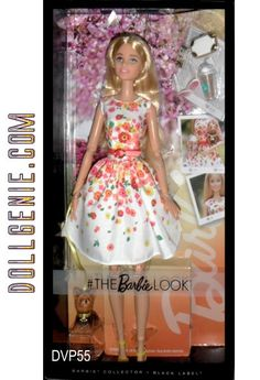 2016 BARBIE THE LOOK COLLECTION PARK PRETTY DOLL  with YORKIE DOG / PET, CELL PHONE, ICED COFFEE, ETC.  - - blend international runway elements with current street styles!