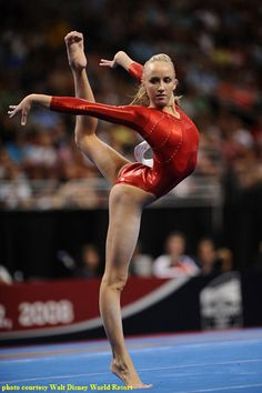 Nastia Liukin, we've seen her grow up with all they eyes of the world on her!  She will be missed on the floor.