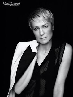Robin Wright . Pose (not see-through shirt though)