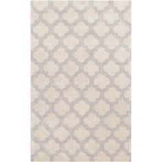 Cosmopolitan Beige and Gray Rectangular: 3 Ft 6 In x 5 Ft 6 In Rug - (In Rectangular)