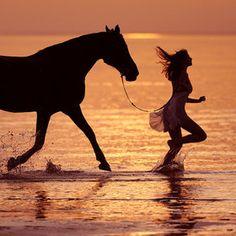Riding on the beach <3