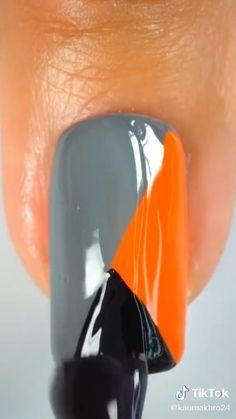 Trendy Nail Art, New Nail Art, Nail Art Diy, Easy Nail Art, Simple Nail Art Videos, Nail Art Designs Videos, Cute Nail Art Designs, Diy Acrylic Nails, Diy Nails