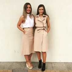 Our KOOKAïettes styled in the Lola Top, Ritz Skirt, Caribbean Wedges and Minoko Trench, shop now in all Boutiques xx