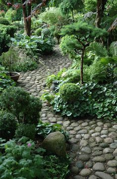 garden design guide English cottage garden in Worcestershire ~ English garden. The different colors and textures are great together.English cottage garden in Worcestershire ~ English garden. The different colors and textures are great together. Rock Pathway, Pathway Ideas, Mulch Ideas, Paving Ideas, The Secret Garden, Secret Gardens, Woodland Garden, Garden Cottage, Garden Stones