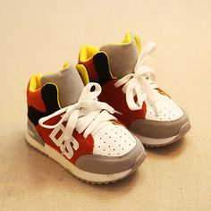 9125402035 Children Shoes For Boys And Girls Fashion Sneaker Shoes Kids Baby Boots  Color Block Casual Shoes Personality Fashion Boots
