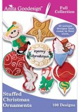 Stuffed Ornaments by Anita Goodesign $70