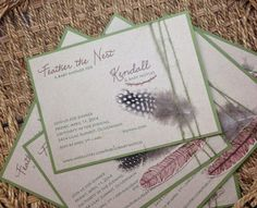 Feather the Nest Baby Shower by kim grant, ink & such