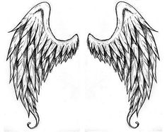Engelflügel - Angel Wings Tattoo Vorlagen