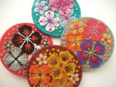 NEW 'SUMMER RAIN' MINI FELT BROOCHES | Flickr - Photo Sharing!