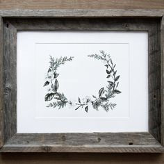 Floral Wreath 8x10 Giclee Print by BurrowingHome on Etsy, $25.00