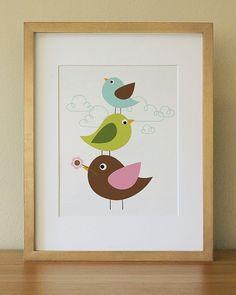 Bird . Baby Nursery Wall Art . Children Wall Art