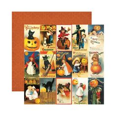 Reminisce - Hallowe'en Collection - 12 x 12 Double Sided Paper - Hallowe'en Greetings at Scrapbook.com $0.99