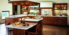 Elegant cherry wood kitchen from Snaidero