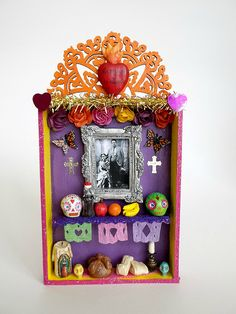 ❁☠❀ Dia de Los Muertos  ❀☠❁ Frida and Diego Day of the dead mini shadow box | by Amepalas
