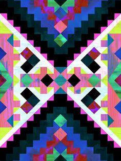 Hana Geometric Art Print by SchatziBrown #geometric #pattern