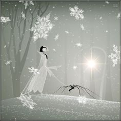 Snow spider, by Nictopterus