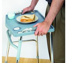 Increase your #mobility with this handy #Walker #Tray. The tray simply attaches to your walker so you can carry small meals and snacks with ease. #mobilityaids