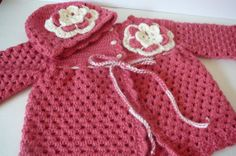 READY TO SHIP     Crocheted Baby Girl Matinee by fashionablekids, $60.00