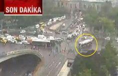 GÜNCELLENİYOR: Vezneciler'de Polis Otobüsüne Bombalı Saldırı