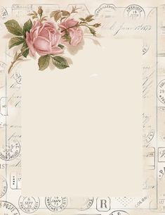 pretty vintage rose stationary ~ free printable
