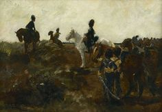 George Hendrik Breitner (1857-1923) Dutch artillerymen on their horses, oil on panel 30.5 x 43.3 cm., signed l.l. and painted ca. 1896-1903. Collection Simonis & Buunk, The Netherlands.