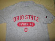 TEAM ISSUE Ohio State Buckeyes  NCAA  T Shirt Gray S Small - SWIMMING #Champion #OhioStateBuckeyes