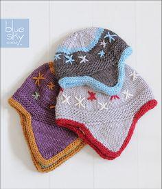 Ravelry: Flurry Flap Hats pattern by Kim Hamlin