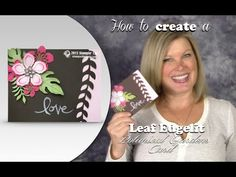 How to create Leaf edging with the Stampin Up Botanical Blooms - YouTube