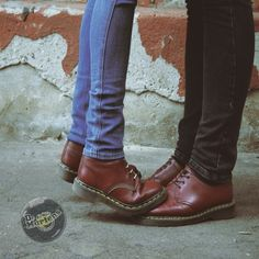 Skinhead#Love#Affair# ❤   | We Heart It | dr martens, couple, and red