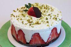 Erdbeer-Pistazien-Torte