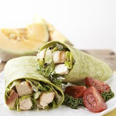 This chicken Caesar salad wrap recipe is elevated by the irresistible smoky flavor of grilled chicken and grilled romaine. Whisk together this easy Caesar salad dressing, toss with the grilled chicken and romaine and wrap it all together for a delicious lunch or dinner to serve two.