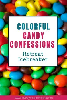 This Colorful Candy Confession icebreaker is a sweet way to bring women together at your next women's retreat. #icebreaker #icebreakergames