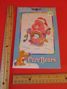 "REDUCED Cheer Care Bears 5"" x 7"" Christmas Lights Cross Stitch 39056 Kit Gift"