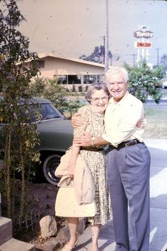 Very Happy older couple. slides dated may 196