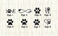Love Paw Animal Car Decal Dog Love Paw Word Decal Paw