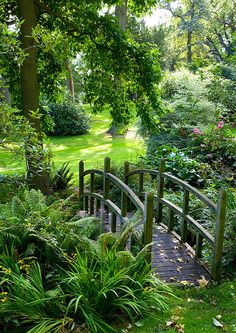 These Secret Garden design ideas can inspire you to make one for yourself. Get the best secret garden landscaping ideas for your backyard Garden Paths, Garden Bridge, Moss Garden, Flowers Garden, Garden Planters, Garden Paving, Garden Soil, Garden Table, Pond Bridge