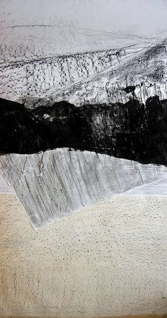 no4 frottage collage, by Anna Lupicka, via Flickr Landscape Elements, Elements Of Art, Abstract Landscape, Fine Arts Subjects, Charcoal Sketch, Art File, Collage Art, Collages, Texture Art