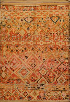 Semi-Antique  Vintage Moroccan Rug