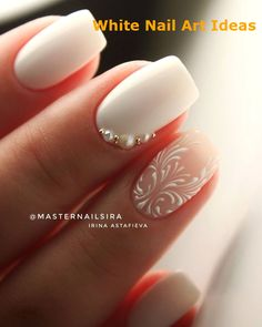35 spring wedding nail ideas to copy 5 practical ways to apply nail polish without errors Es ist fast eine Prüfung, Nagellack richt White Nail Designs, Best Nail Art Designs, Floral Designs, Fantastic Nails, Cute Nails, Pretty Nails, Hair And Nails, My Nails, Nails Yellow