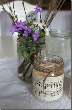 Litt mer ideer til borddekorasjon og litt redesign. Mason Jars, Diy Ideas, Mason Jar, Craft Ideas, Glass Jars, Jars
