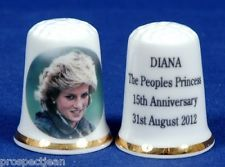 Diana The Peoples Princess 15th Anniversary 31st August 2012 China Thimble B/91