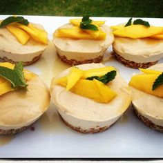 Recipe Raw Mango No Cheesecake Sugar-Dairy-Gluten Free by Sprouting Life - Recipe of category Baking - sweet