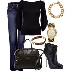 Black and Tortoise, created by averbeek on Polyvore