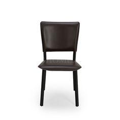 餐椅 不锈钢框架+皮艺软包 W10-108229 W451*D521*H864 mm