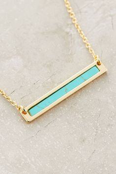 Turquoise Sea Bar Necklace by Samantha Wills