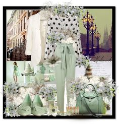 """Mint"" by kalinak ❤ liked on Polyvore"