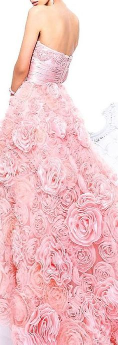 beautiful pink romantic gown by Sherri Hill. Now for somewhere to where it.