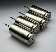 9mm Winchester Nickel Push Pins Thumb Tacks by wildwestjewelryshop
